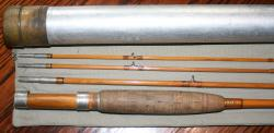 HL Leonard Bangor Maine Marked Fly Rod